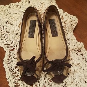 Coach ballet flats  two toned brown